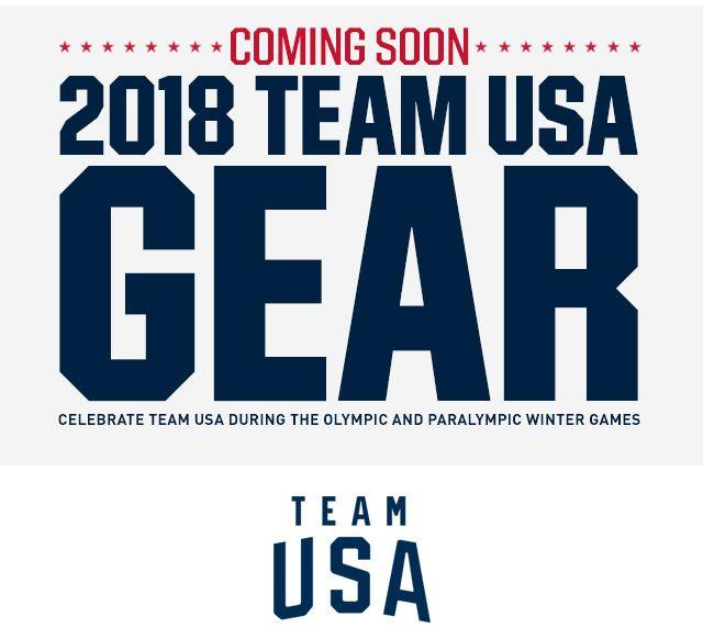 Coming Soon: 2018 Team USA Gear