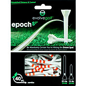 "Evolve Golf 1.5"" & 2.75"" Epoch S3 White/Orange Golf Tee Combo - 40-Pack"