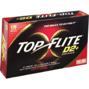 Top Flite D2+ Distance Yellow Golf Balls – 15-Pack – Prior Generation