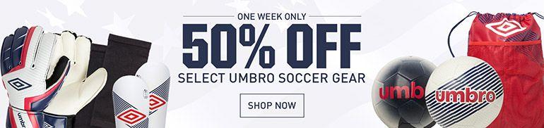 50% Off Umbro Soccer Gear