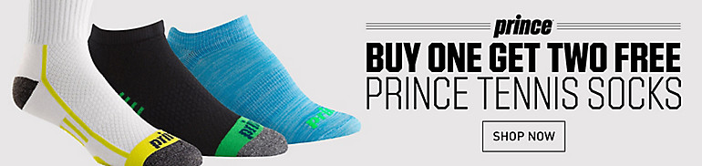 Shop Prince Tennis Socks, Buy One Get Two Free