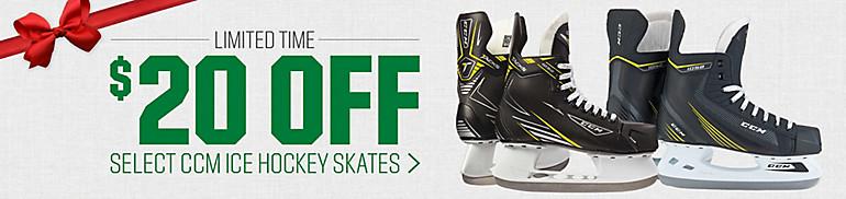 Shop $20 Off Select CCM Hockey Skates