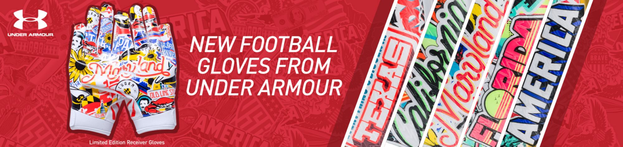 Shop Under Armour Football Gloves