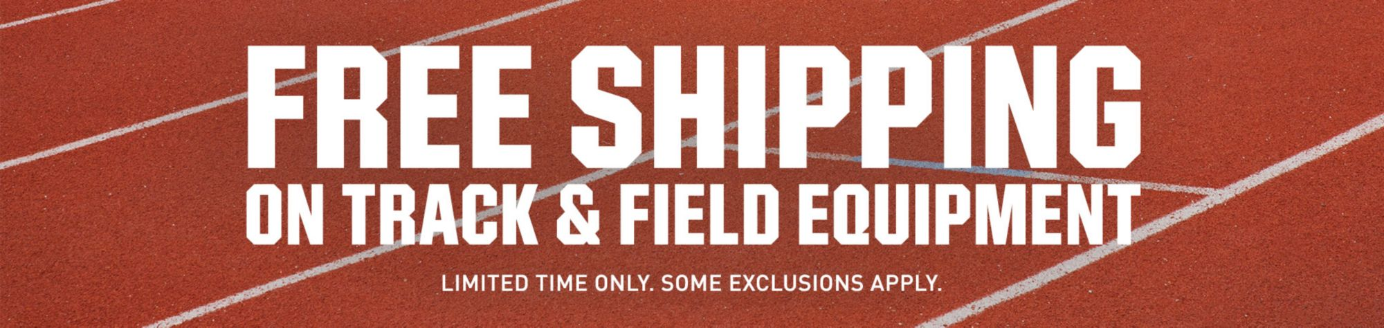 Free Shipping on Select Track and Field Purchases