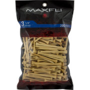 Maxfli 3.25'' Natural Golf Tees – 200-Pack