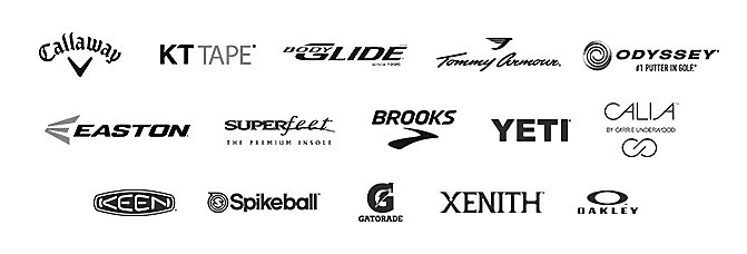 Logos of Featured Brands in DICK's Sporting Goods Grand Opening event