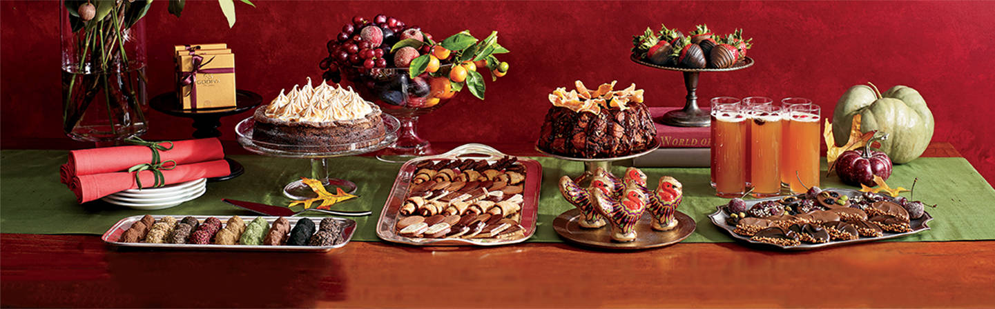 Fall Feast tablescape. Get inspired with Godiva.