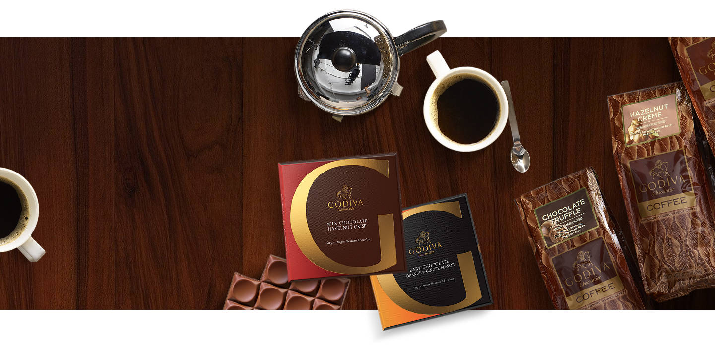 Our G by Godiva premium chocolate bars pair perfectly with coffee