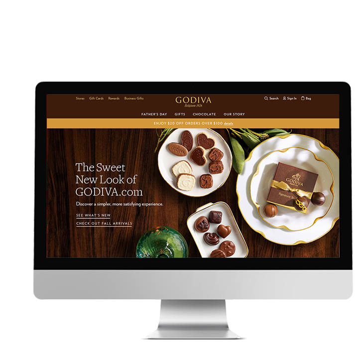 Introducing the new Godiva.com, optimized for mobile and desktop