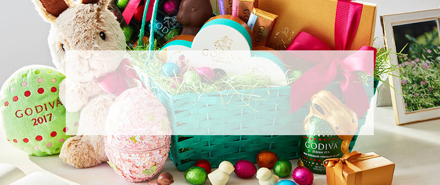 Easter baskets and chocolate godiva easter gift baskets negle Images