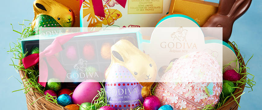 Easter chocolate gifts godiva shop all chocolate easter gifts from chocolate eggs and bunnies to easter gift baskets negle Image collections