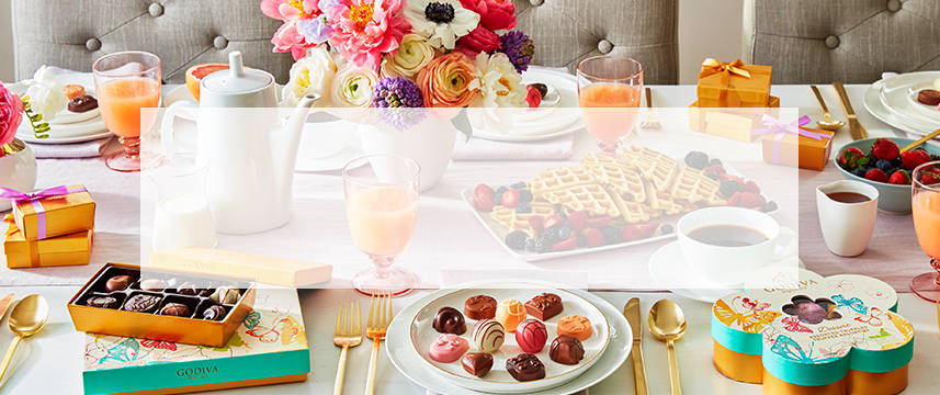 Shop GODIVA chocolate gifts under fifty dollars for Mother's Day