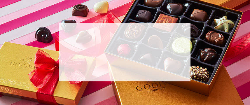 Shop Valentine's Day Assorted Chocolate Gold Gift Boxes