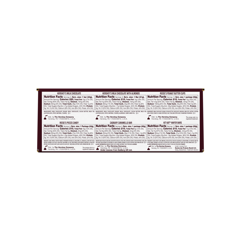 Hershey Chocolate Lovers Fund Raising Kit, 79.52 oz box, 52 bars - Bottom of Package