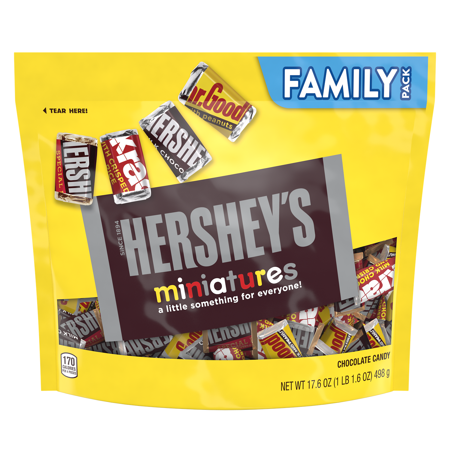 HERSHEY'S Miniatures Assortment, 17.6 oz pack - Front of Package