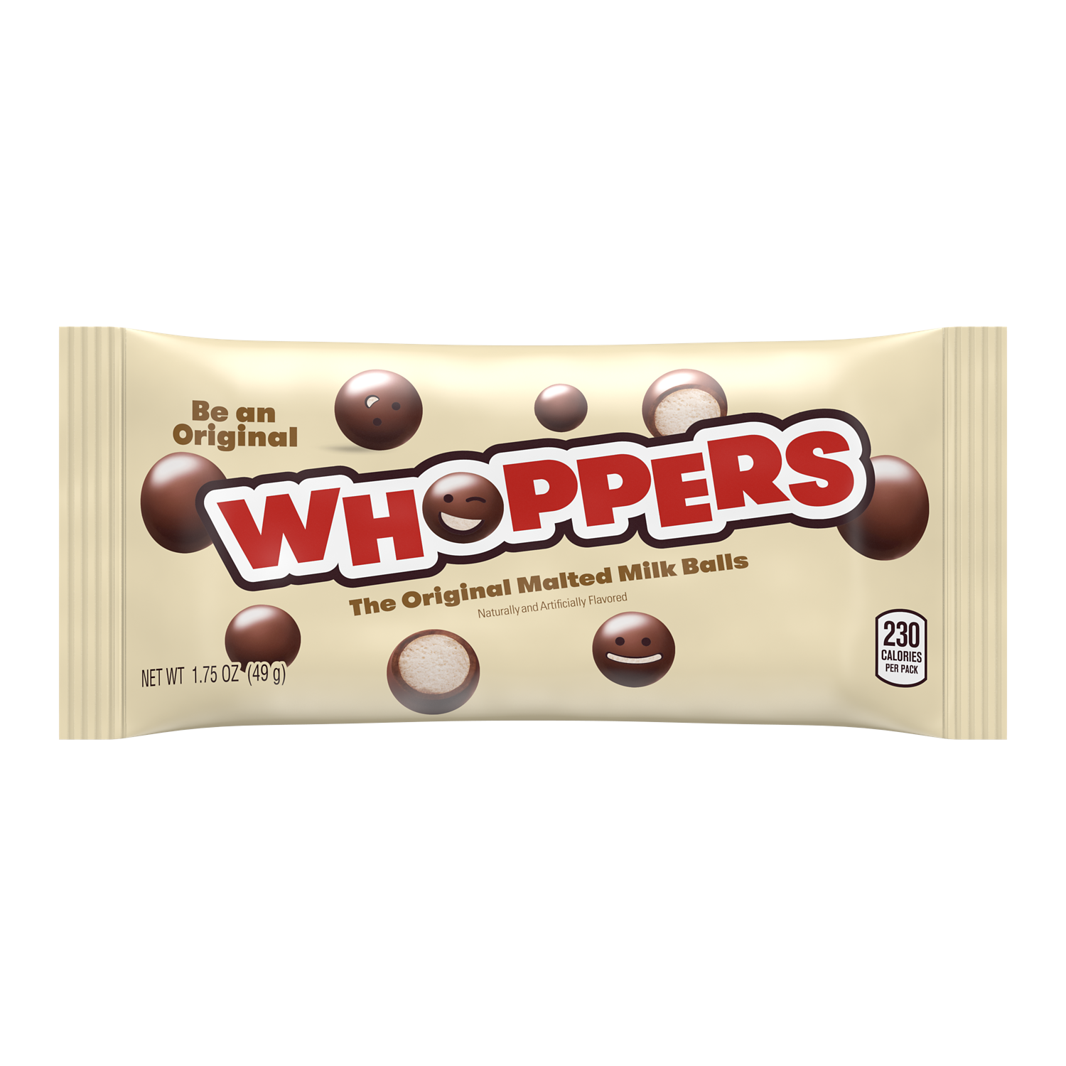 WHOPPERS Milk Chocolate Malted Milk Balls, 1.75 oz - Front of Package
