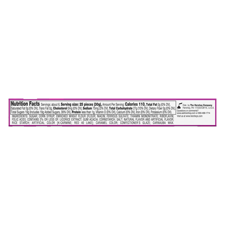 GOOD & PLENTY Licorice Candy, 6 oz box - Bottom of Package