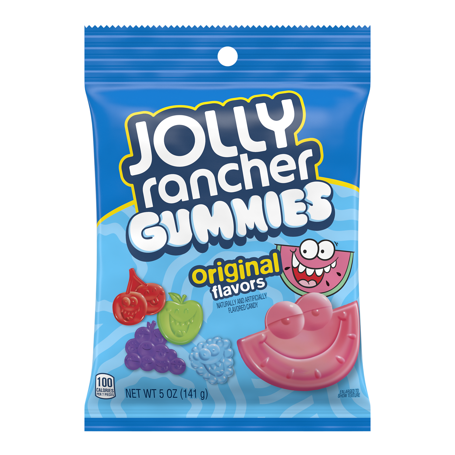 JOLLY RANCHER Original Flavors Gummies, 5 oz bag - Front of Package