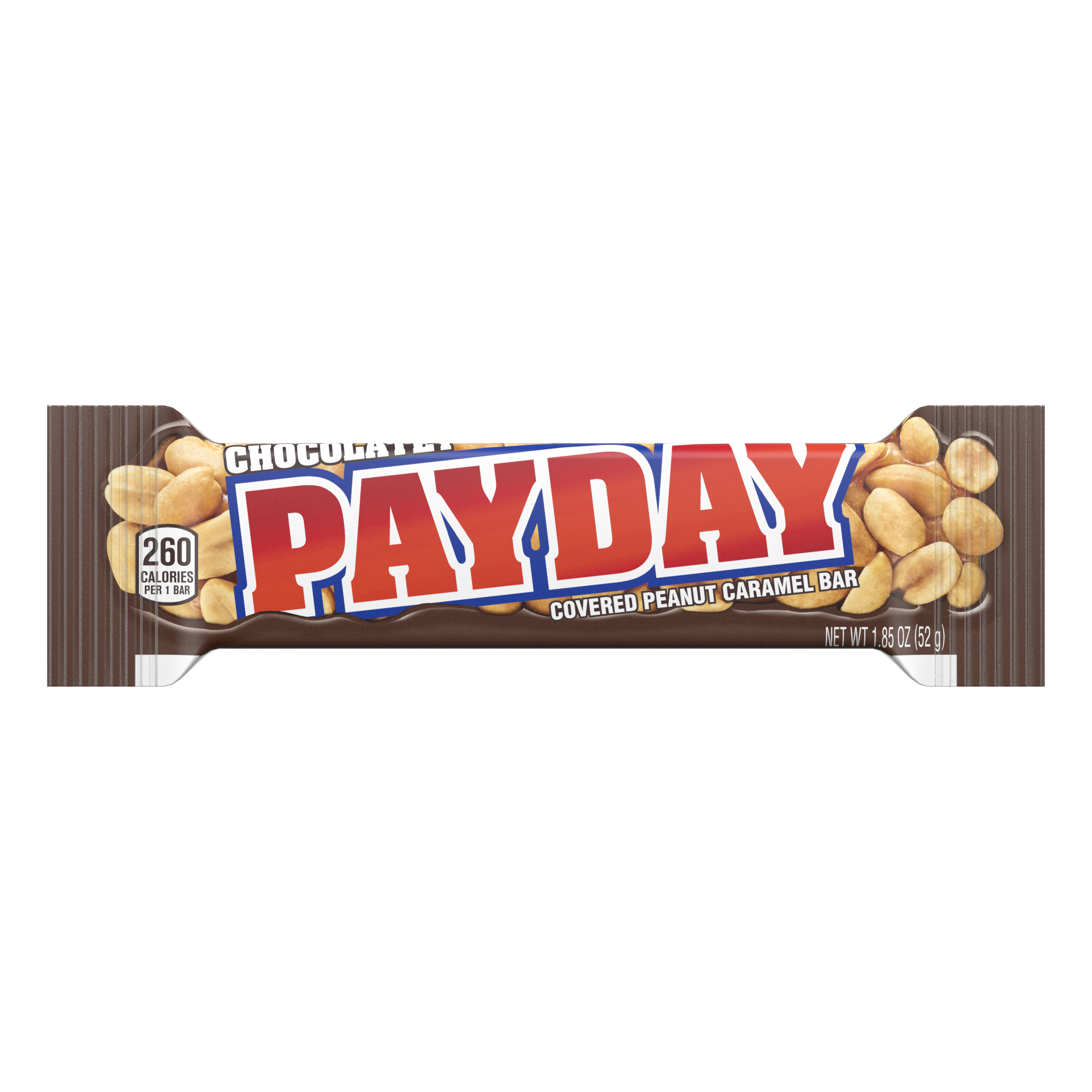 PAYDAY Chocolatey Covered Peanut and Caramel Candy Bar, 1.85 oz - Front of Package