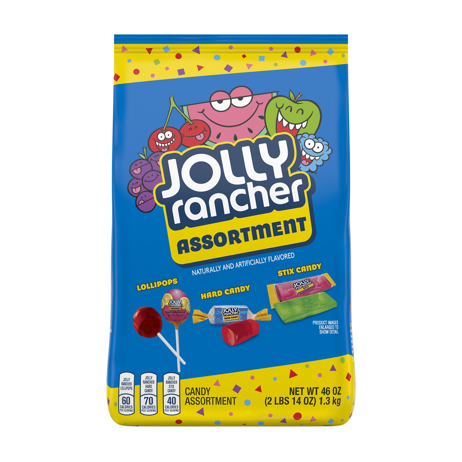 JOLLY RANCHER Candy Assortment, 46 oz bag - Front of Package