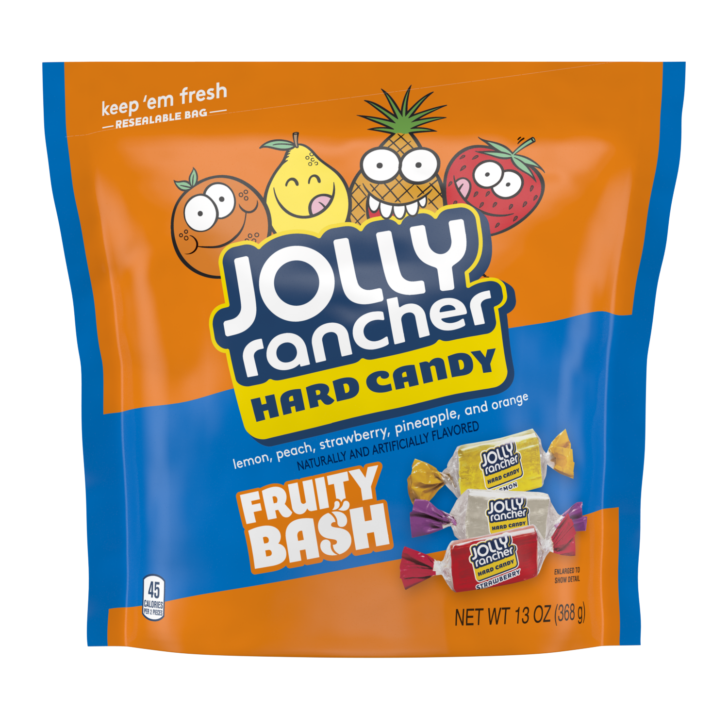 JOLLY RANCHER Fruity Bash Hard Candy, 13 oz bag - Front of Package