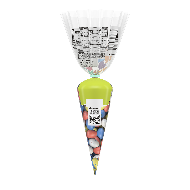WHOPPERS ROBIN EGGS Mini Malted Milk Balls, 2.2 oz carrot - Back of Package