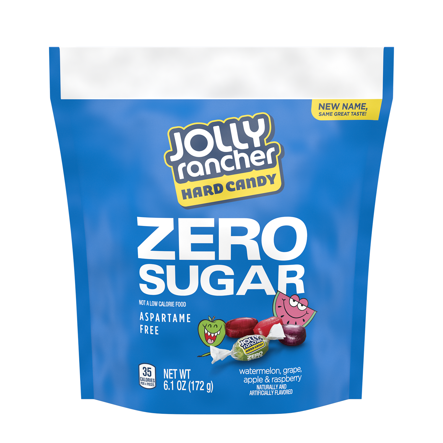 JOLLY RANCHER Zero Sugar Original Flavors Hard Candy, 6.1 oz bag - Front of Package