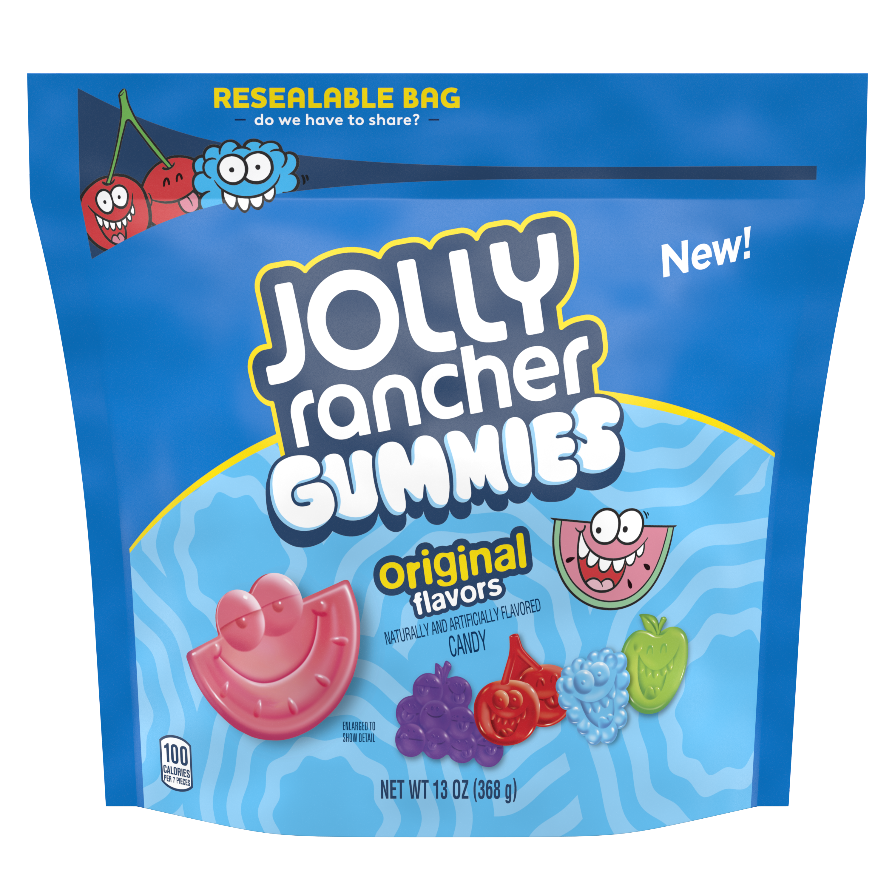 JOLLY RANCHER Gummies Original Flavors, 13 oz bag - Front of Package