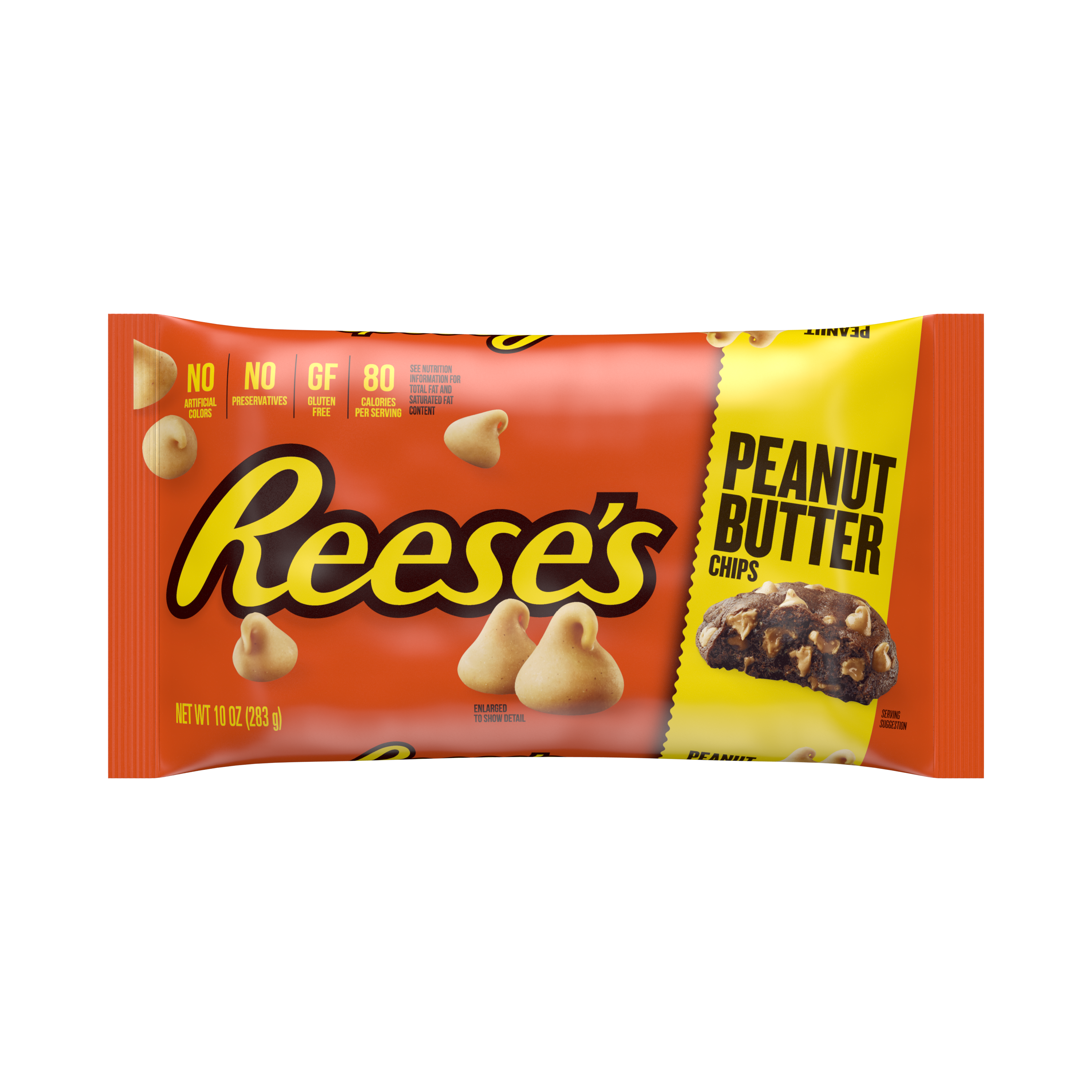 REESE'S Peanut Butter Chips, 10 oz bag - Front of Package