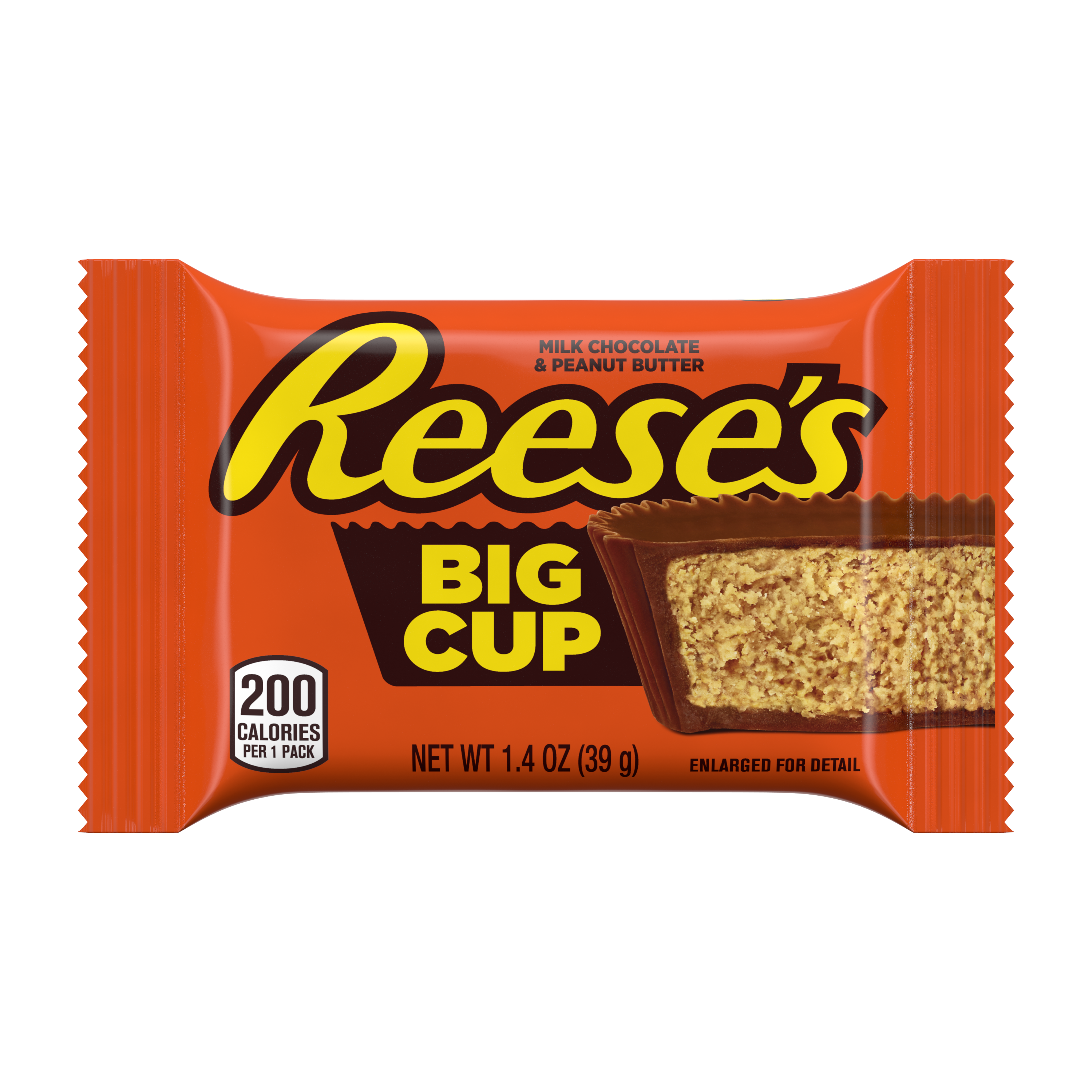 REESE'S Big Cup Milk Chocolate Peanut Butter Cup, 1.4 oz - Front of Package