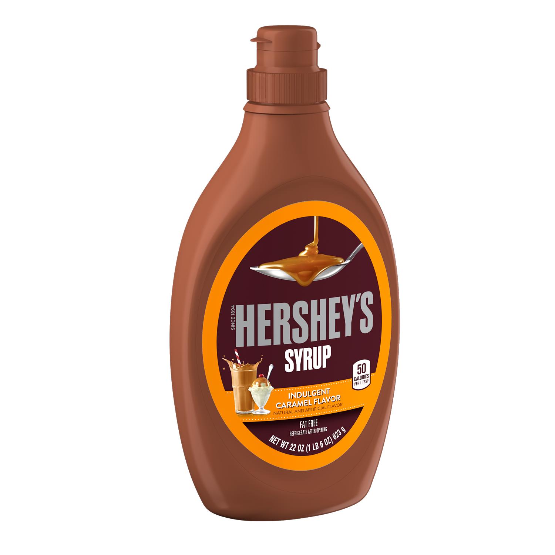 HERSHEY'S Caramel Syrup, 22 oz bottle - Left Side of Package