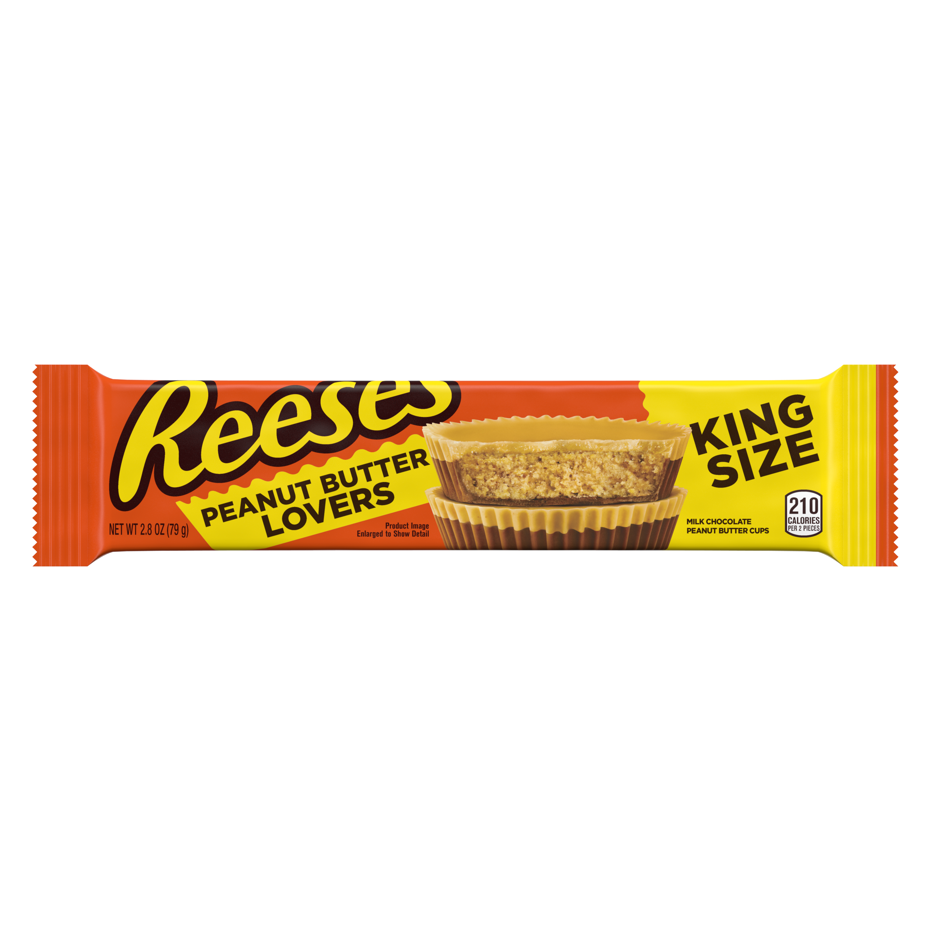 REESE'S Peanut Butter Lovers Milk Chocolate King Size Peanut Butter Cups, 2.8 oz - Front of Package