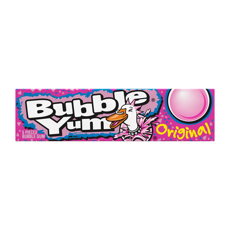 BUBBLE YUM Original Flavor Bubble Gum, 1.4 oz, 5 pieces - Front of Package