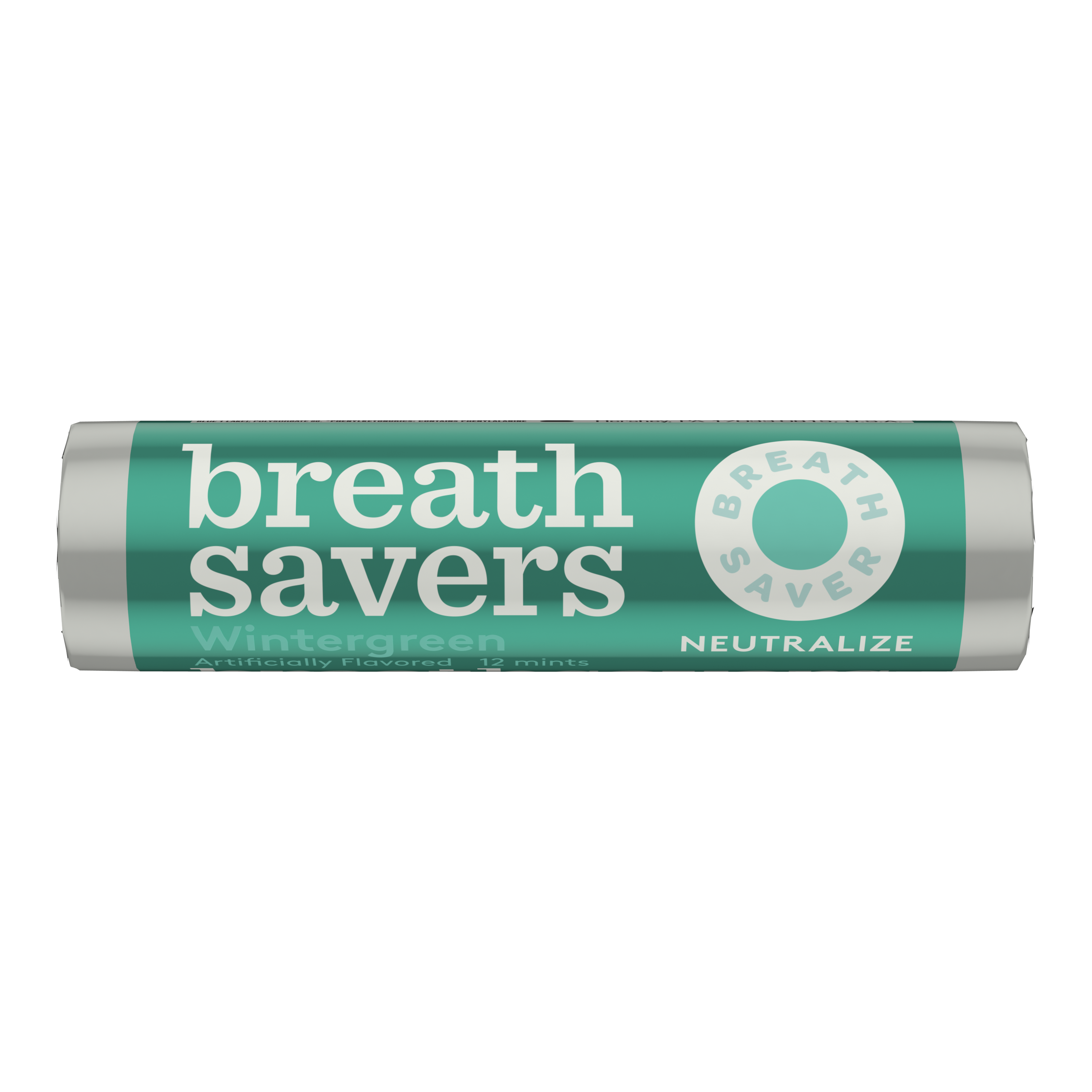 BREATH SAVERS Wintergreen Sugar Free Mints, 0.75 oz roll - Front of Package