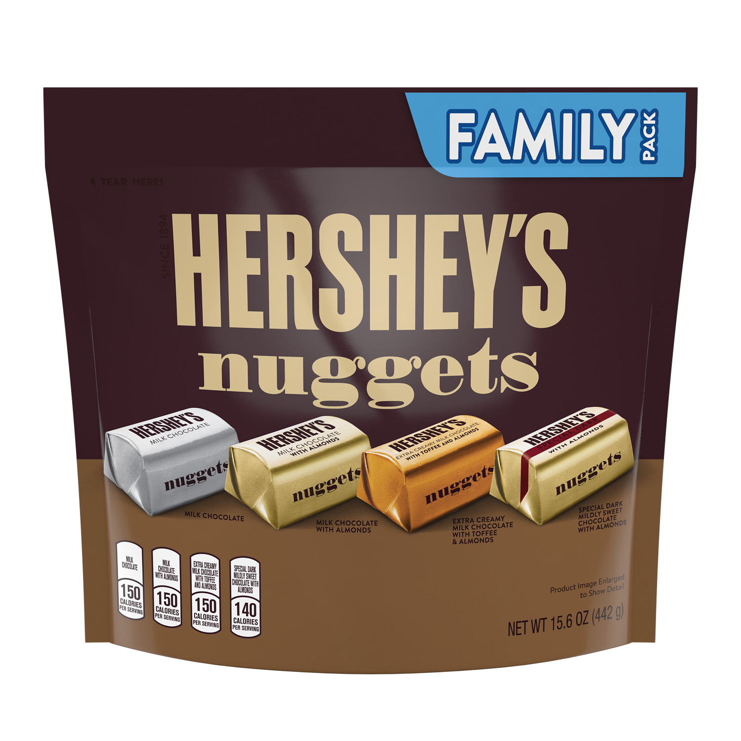 HERSHEY'S NUGGETS Assortment, 15.6 oz pack - Front of Package