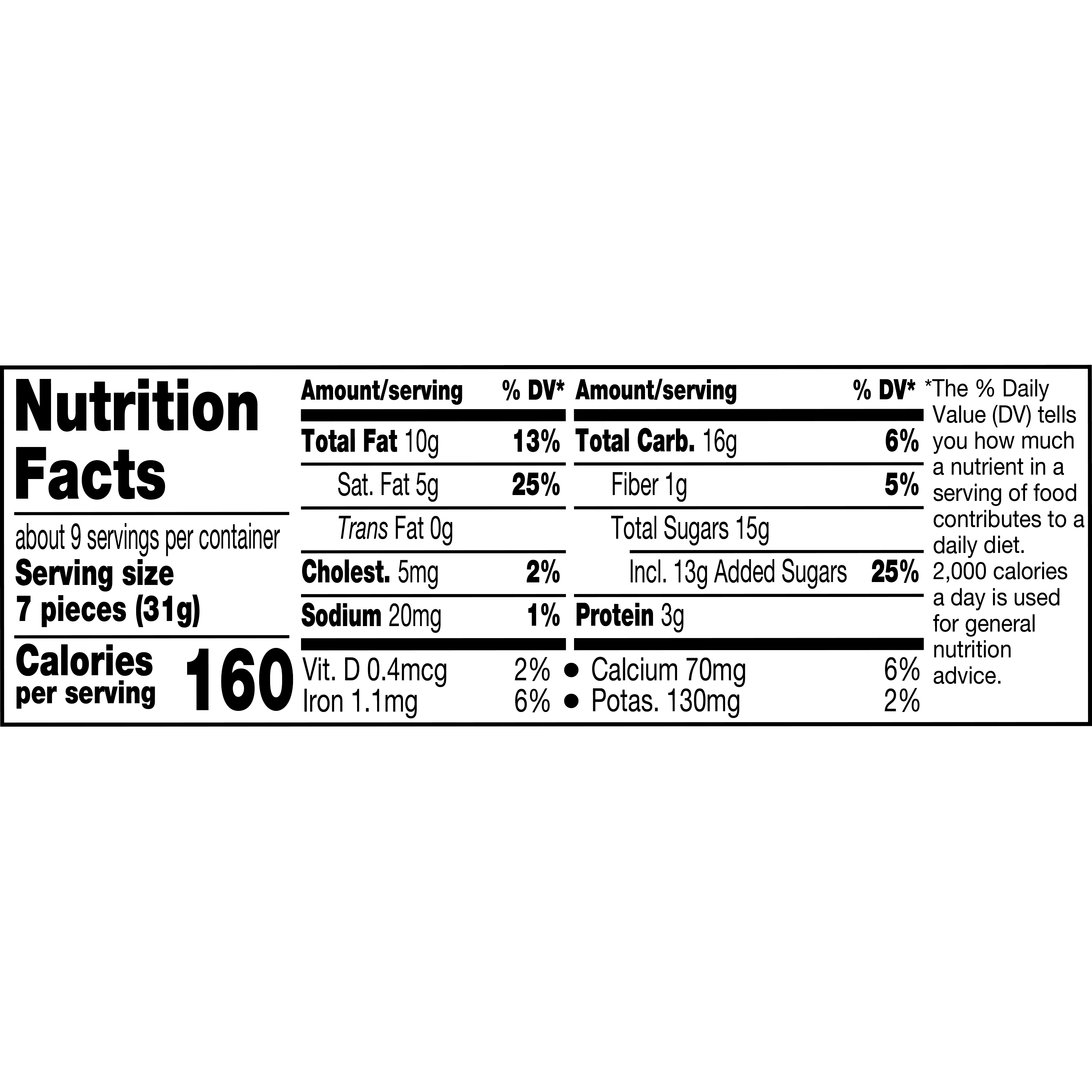 HERSHEY'S KISSES Milk Chocolate with Almonds Candy, 10 oz pack - Nutritional Facts