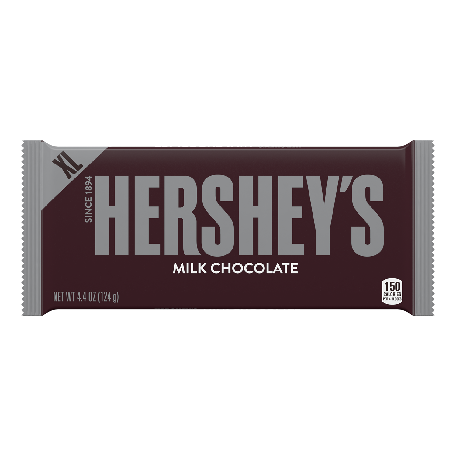 HERSHEY'S Milk Chocolate XL Candy Bar, 4.4 oz - Front of Package