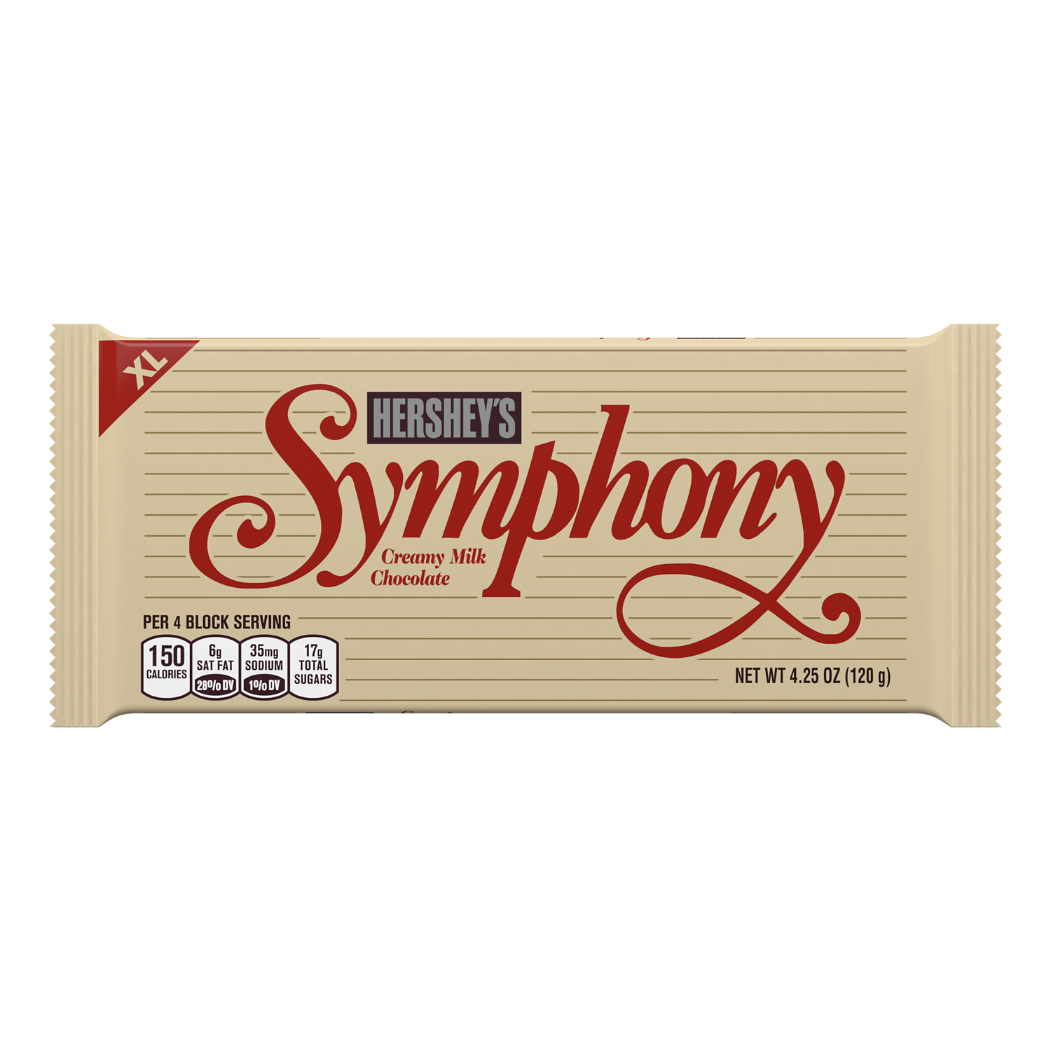 SYMPHONY Milk Chocolate XL Candy Bar, 4.25 oz - Front of Package