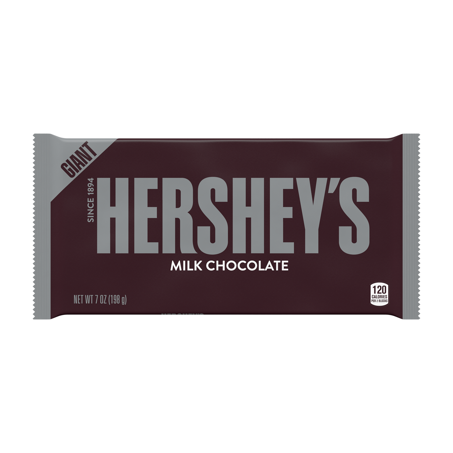 HERSHEY'S Milk Chocolate Giant Candy Bar, 7 oz - Front of Package