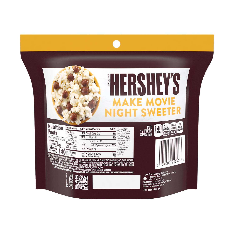 HERSHEY'S Milk Chocolate Pretzel Bites, 7.5 oz bag - Back of Package
