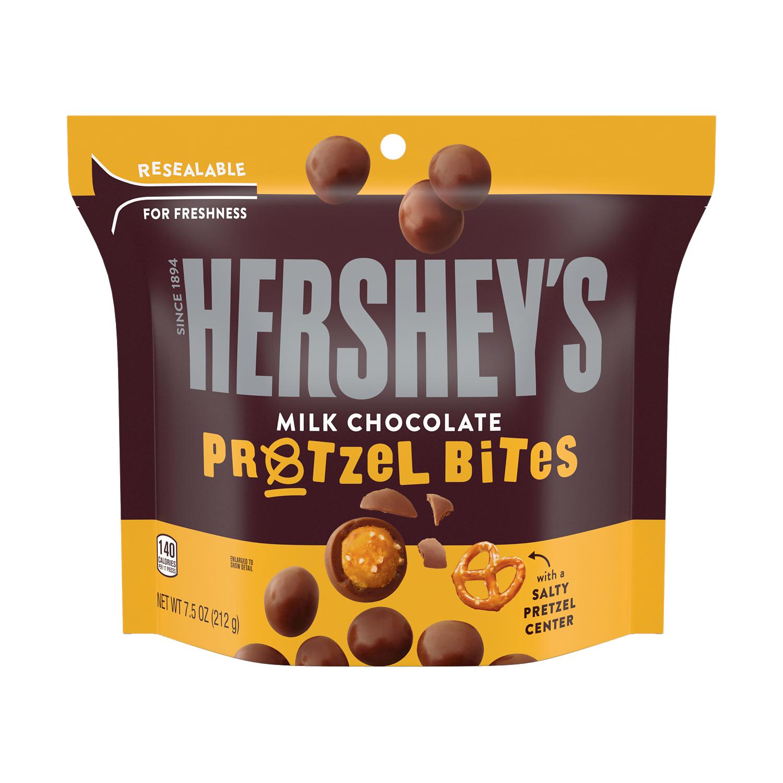 HERSHEY'S Milk Chocolate Pretzel Bites, 7.5 oz bag - Front of Package