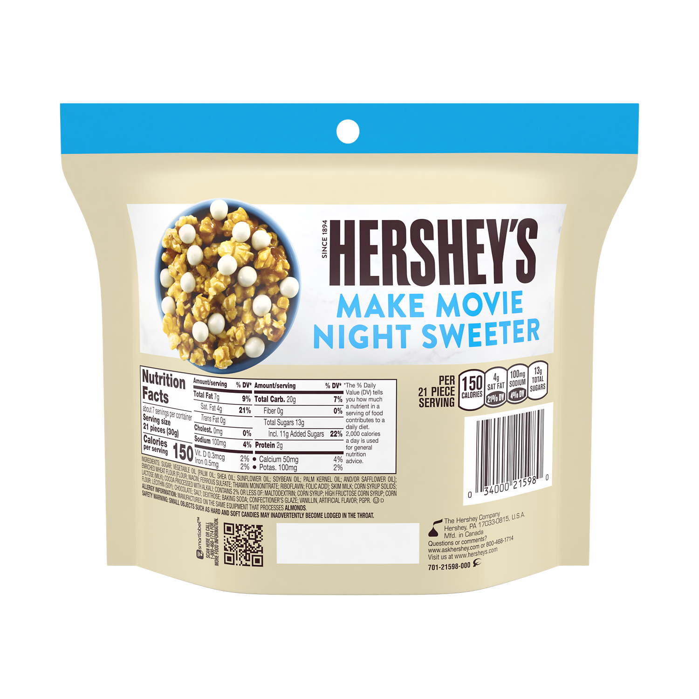 HERSHEY'S COOKIES 'N' CREME Cookie Bites, 7.5 oz bag - Back of Package
