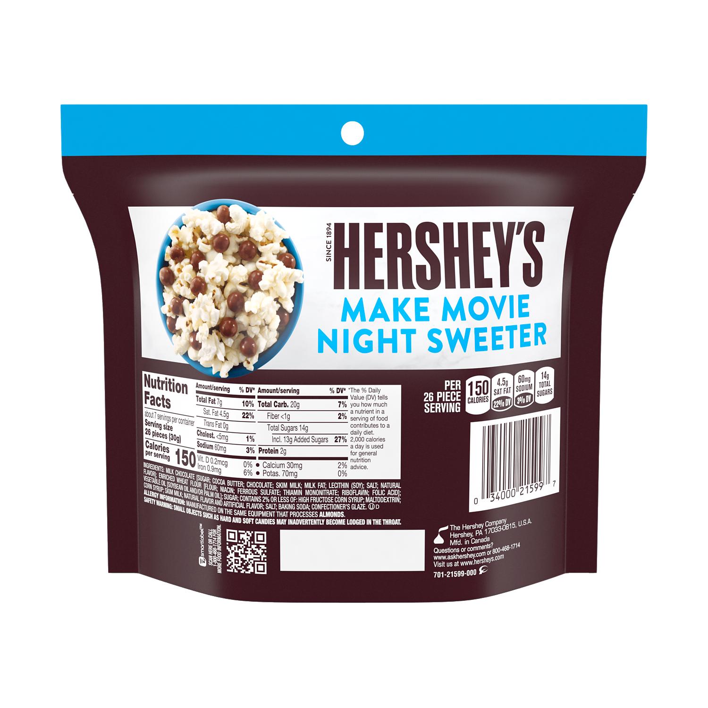 HERSHEY'S Milk Chocolate Cookie Bites, 7.5 oz bag - Back of Package