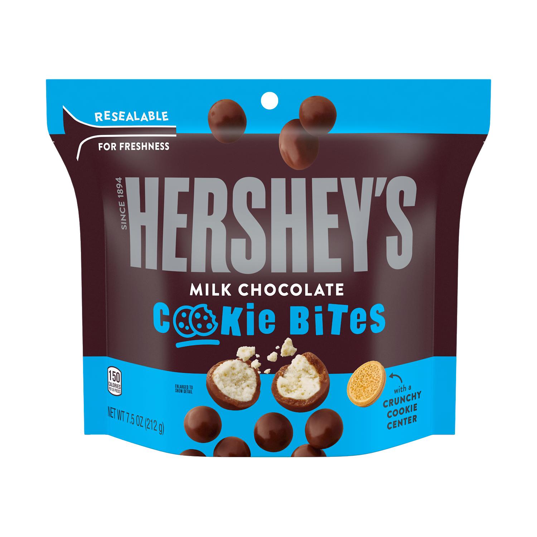 HERSHEY'S Milk Chocolate Cookie Bites, 7.5 oz bag - Front of Package