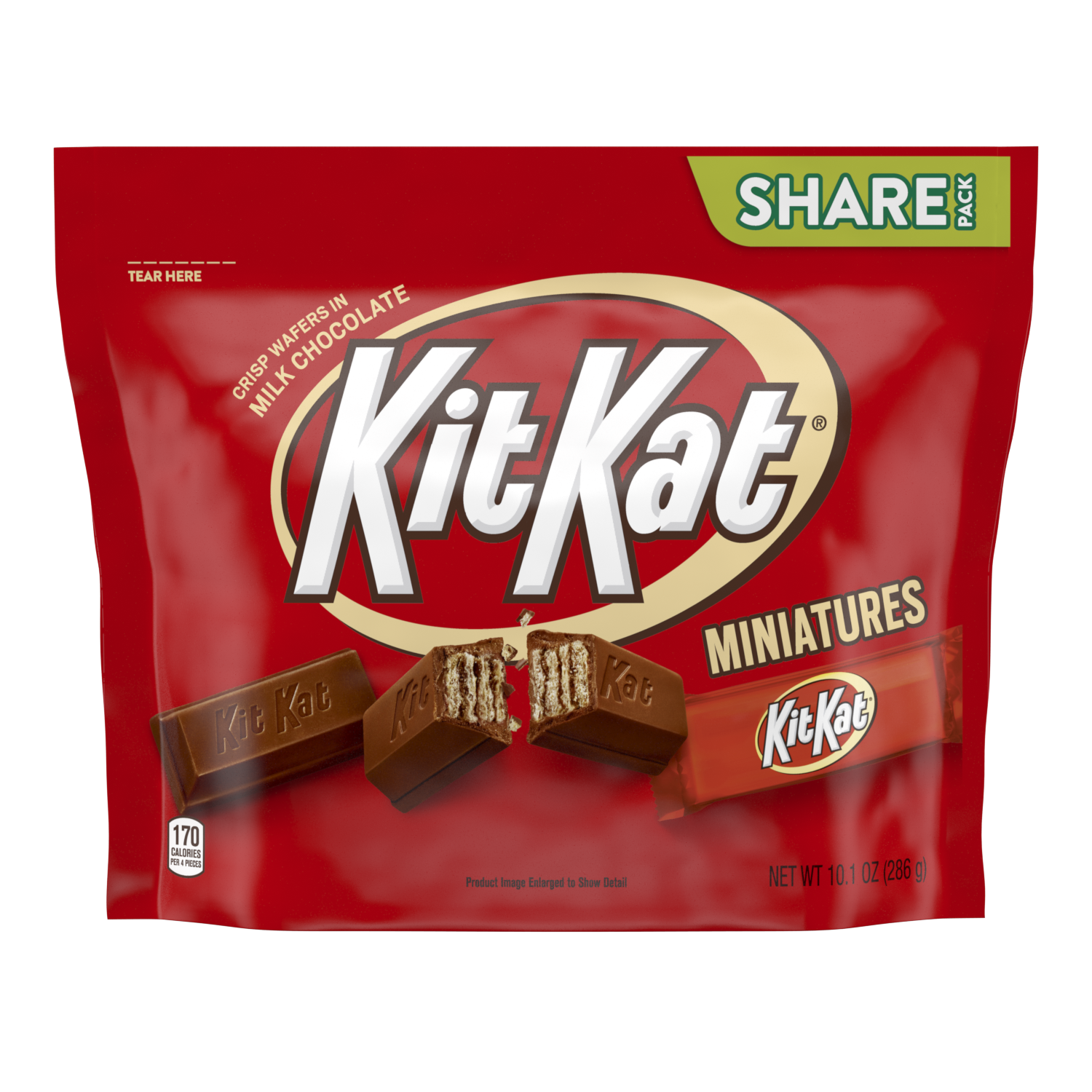 KIT KAT® Miniatures Milk Chocolate Candy Bars, 10.1 oz pack - Front of Package