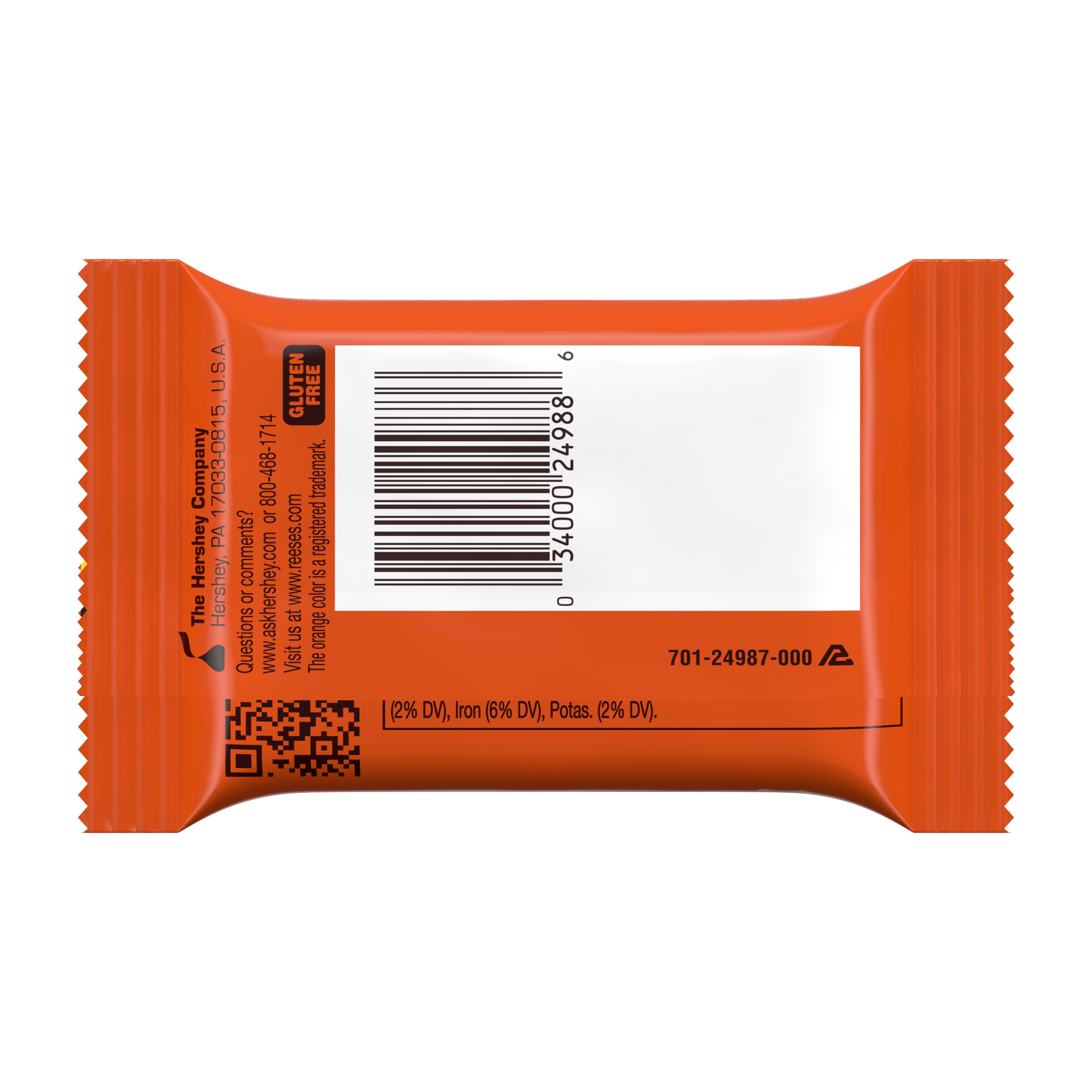 REESE'S Big Cup with Pretzels Peanut Butter Cup, 1.3 oz - Back of Package