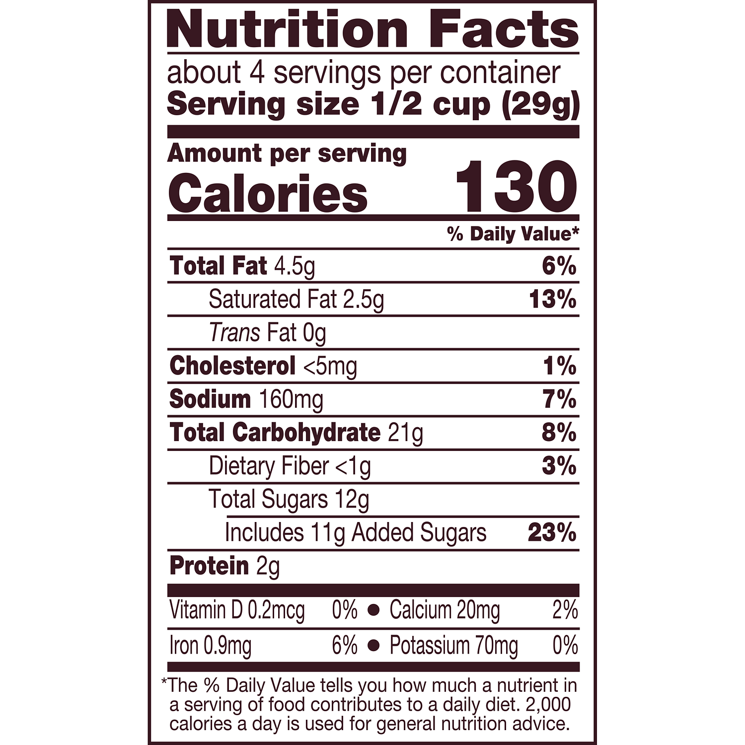 HERSHEY'S Popped Milk Chocolate Snack Mix, 4 oz bag - Nutritional Facts
