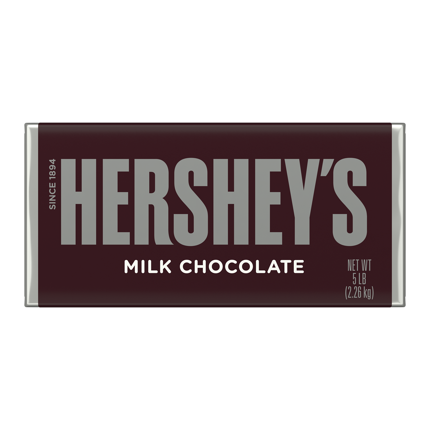 HERSHEY'S Milk Chocolate Candy Bar, 80 oz - Front of Package