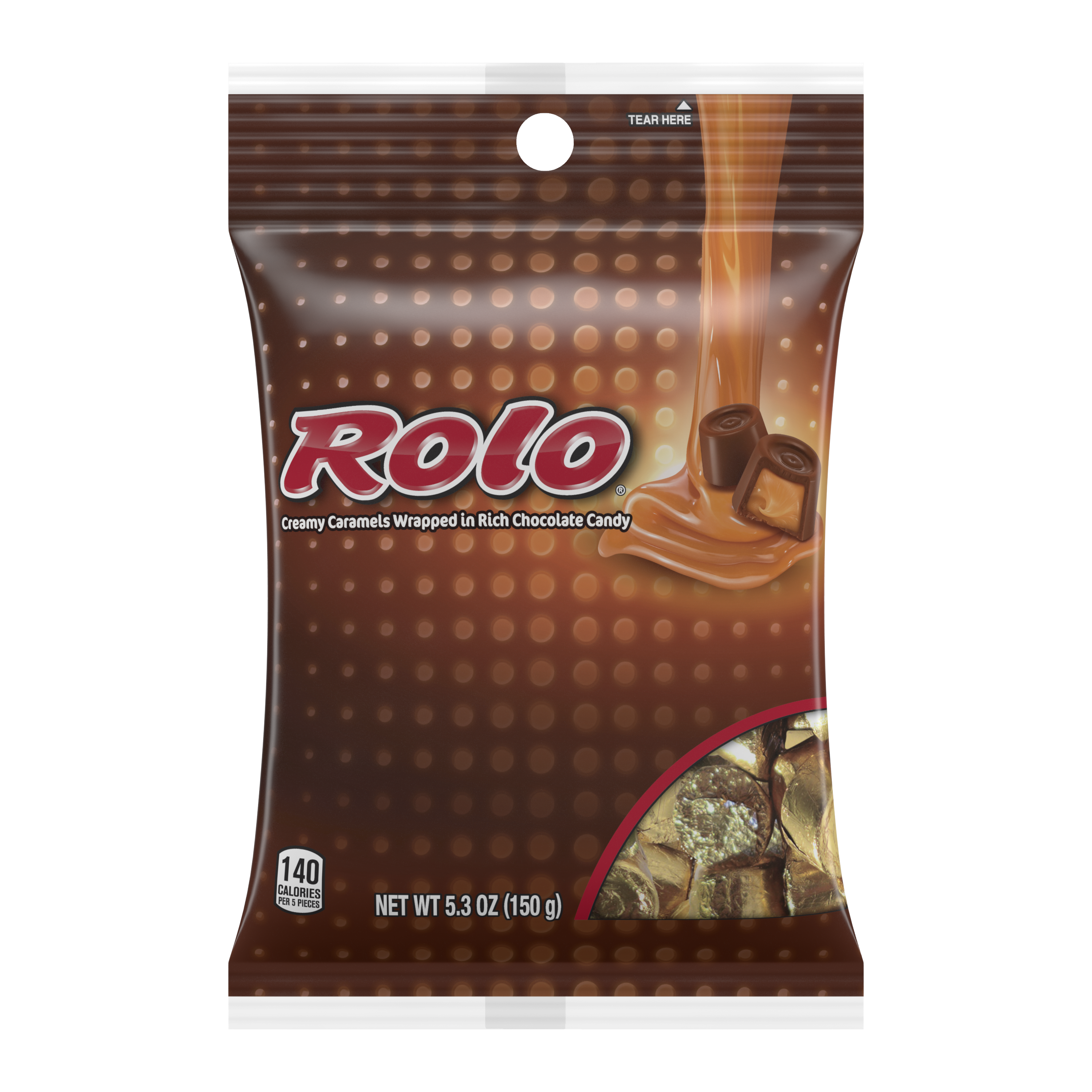 ROLO® Creamy Caramels in Rich Chocolate Candy, 5.3 oz bag - Front of Package