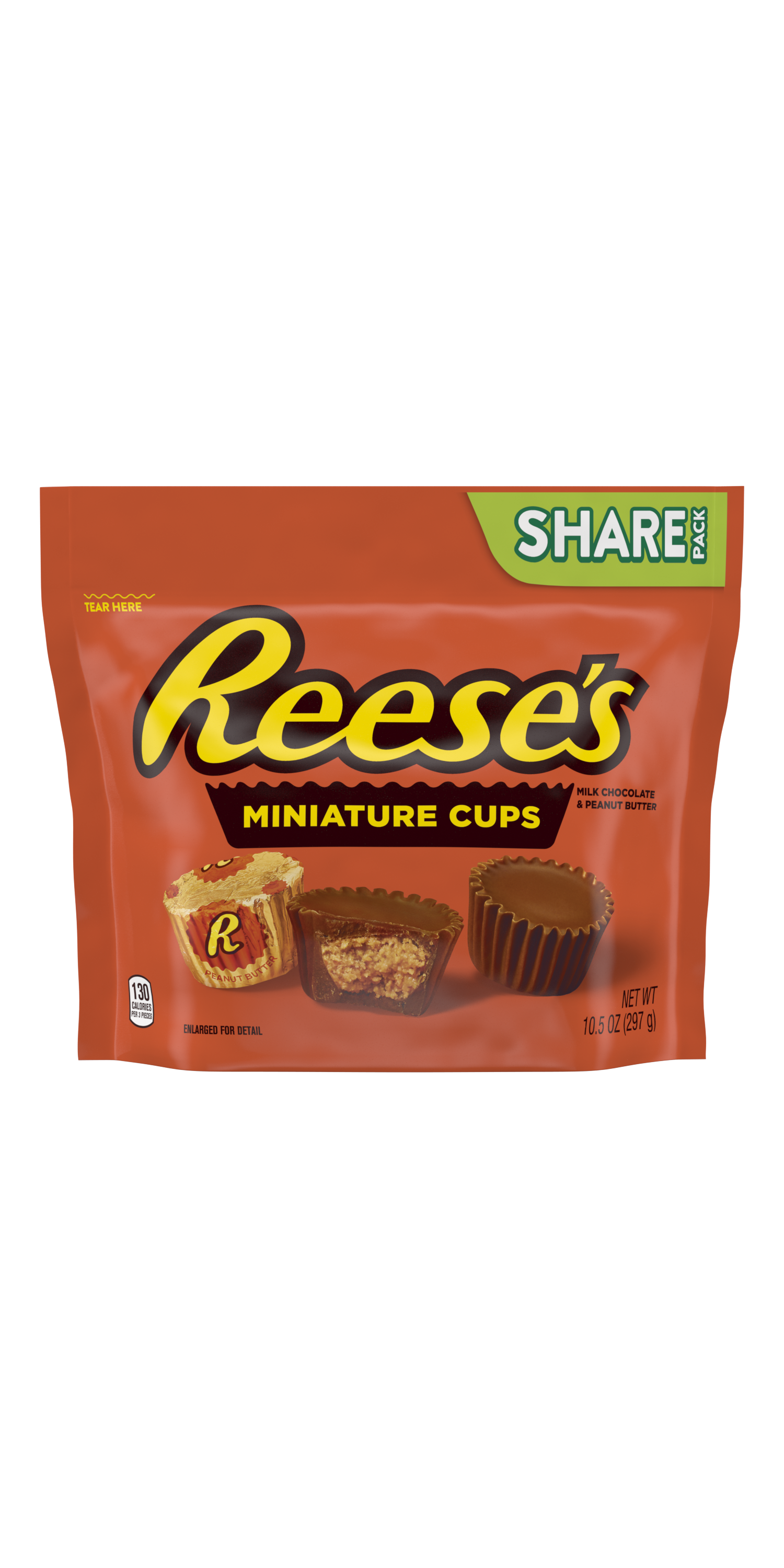 REESE'S Miniatures Milk Chocolate Peanut Butter Cups, 10.5 oz bag - Front of Package